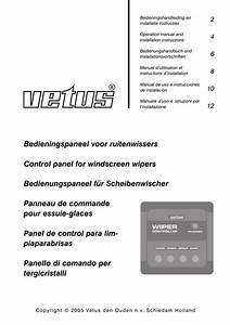 Control Panel Windscreen Wipers Operation Manual And
