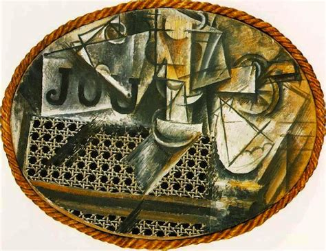 picasso still life with chair caning art history