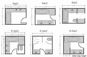 Plan Petite Salle De Bain : les salles de bains de taille moyenne 4 5 6 m modul ~ Melissatoandfro.com Idées de Décoration
