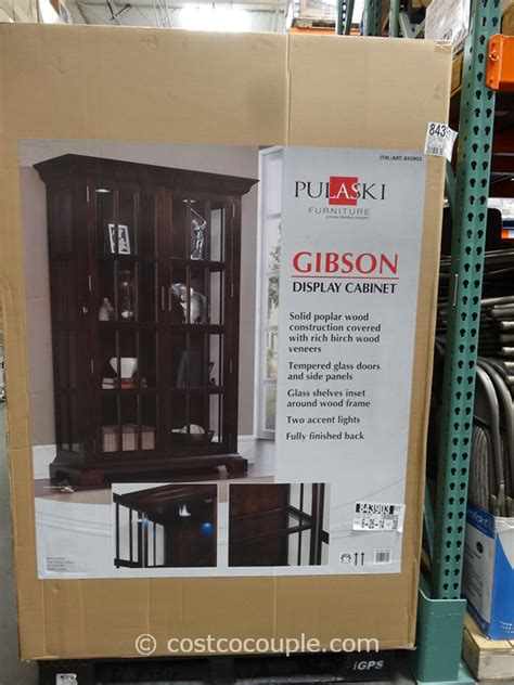 pulaski furniture gibson glass display cabinet