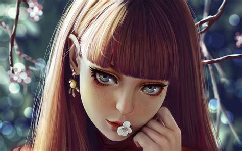 Beautifully Beautiful Girly Wallpaper by Wallpaper Beautiful Portrait Digital Paint