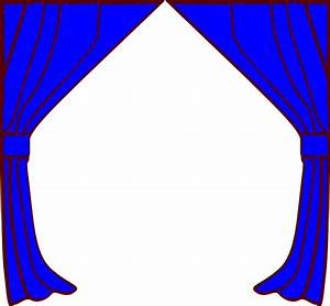 Curtains clip art at clkercom vector clip art online for Blue theatre curtains png
