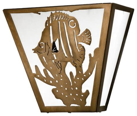 tropical wall sconces 13 quot w tropical fish wall sconce tropical wall sconces