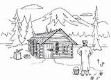 Cabin Coloring Pages Log Lake Cabins Woods Adult Lincoln Sketch Panda Colouring Wood Abe Template Books Paw Xyz Logs Houses sketch template
