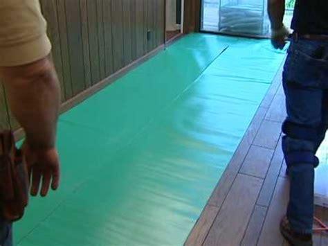 Laminate Flooring Installation    Installing Underlayment