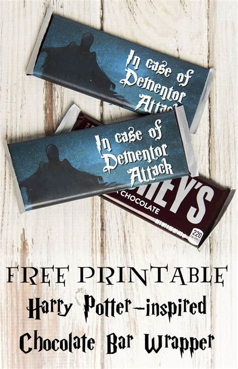 dementor attack chocolate bar wrapper  printable