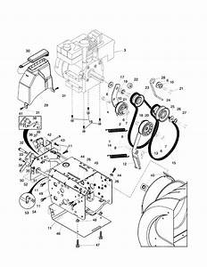 Chassis  Engine  Pulleys Diagram  U0026 Parts List For Model