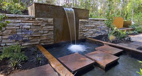 outdoor water feature home and garden contemporary water feature