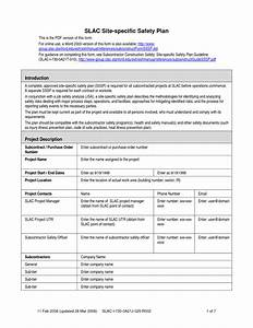 construction safety plan template jeppefmtk With construction health and safety plan template