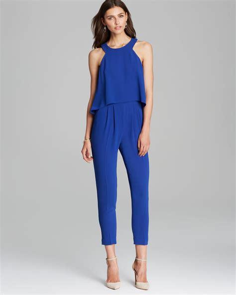 blue jumpsuits jumpsuit kaitlyn in blue lyst