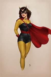 Classy Female Superhero Pin