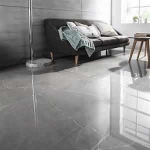 Carrelage sol et mur gris effet marbre Rimini l 60 x L 120 cm Leroy Merlin