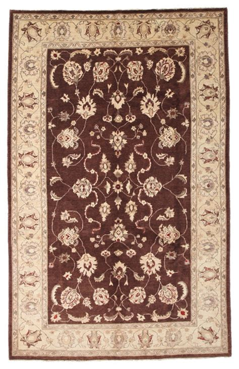 6x9 Wool Rug by Oushak Wool Area Rug Brown 6x9 Traditional Area Rugs