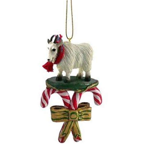 amazon com mountain goat candy cane christmas ornament