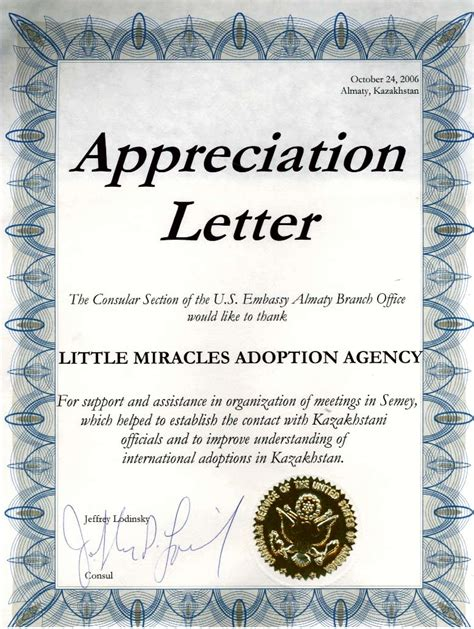 letter  appreciation sample templates