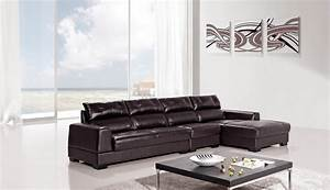 3 piece diva genuine dark brown leather sectional sofa set With 3 piece brown leather sectional sofa