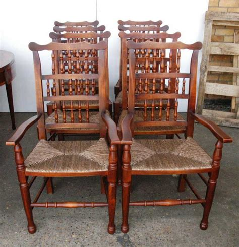 set 8 pad foot spindle back chairs spindleback ebay
