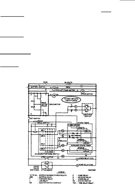 electric lift wiring diagram figure 5 38 wiring diagram of an electric forklift