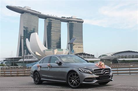 red mercedes  amg perfect wedding cars singapore
