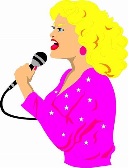 Singer Clipart Illustration Singing Lady Blond Sing