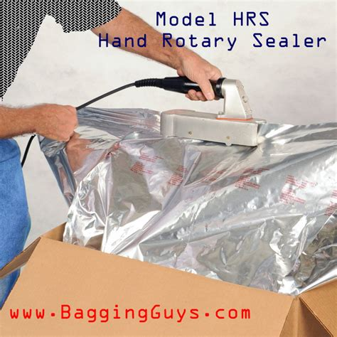 model hrs rotary hand heat sealer simple manually operated mil spec continuous motion heat
