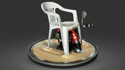 build   hovering lawn chair   perfect long weekend lounger