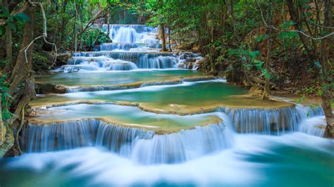 pictures of landscapes with waterfalls waterfall river landscape nature waterfalls wallpaper 3840x2160 682118 wallpaperup