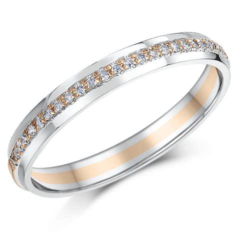 3mm 9ct rose white gold point diamond ring eternity rings at elma uk jewellery