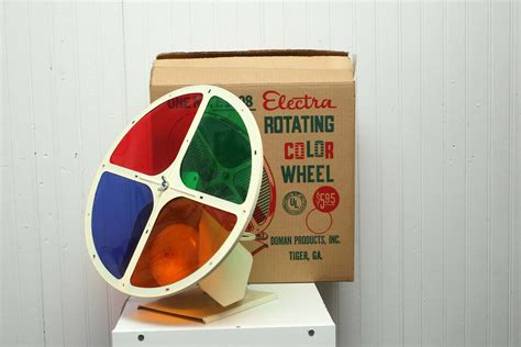 vintage aluminum tree rotating color wheel electra