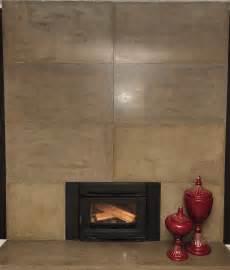 Concrete Tile Fireplace