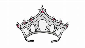 How To Draw A Queen Crown Step By Step