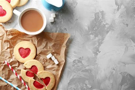 Find the perfect coffee and cookies stock photo. Cookies With Coffee On Grunge Background, Stock Image - Image of gingerbread, background: 105737401