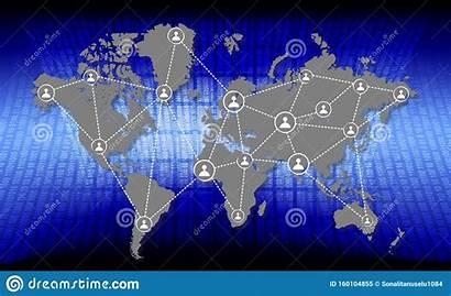 Network Global Map Partnership Connection Communication Technology