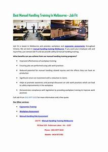 Best Manual Handling Training In Melbourne Job Fit By Job Fit