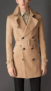 Trench Coat Burberry Homme : burberry leather trench coat in natural for men lyst ~ Melissatoandfro.com Idées de Décoration