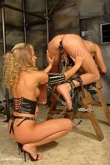 Woman on men bondage
