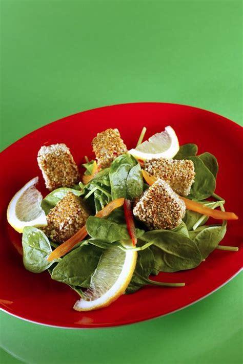 cuisiner epinard frais thon sésame et pousses d épinards