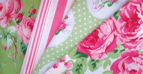 shabby fabrics notions shabby chic pink and green floral fat quarter bundle fabric fat quarter bundle floral lecien