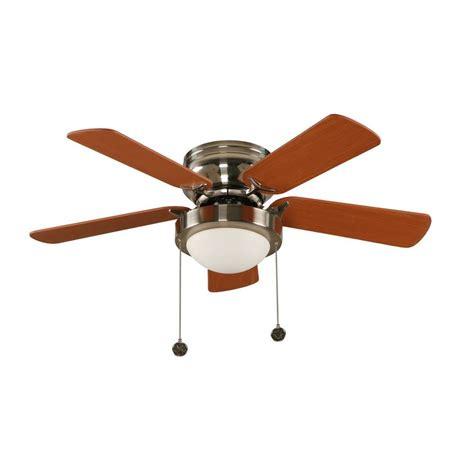 hton bay capri 36 in brushed nickel hugger ceiling fan