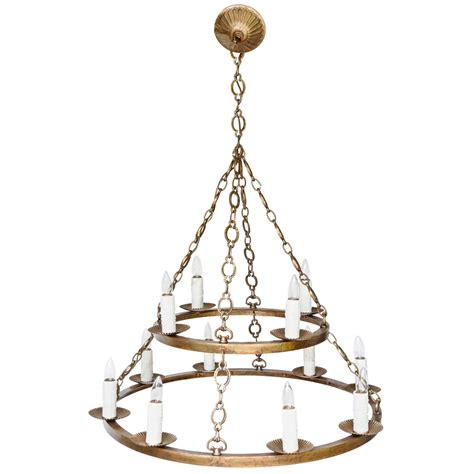 ring chandelier large ring chandelier at 1stdibs