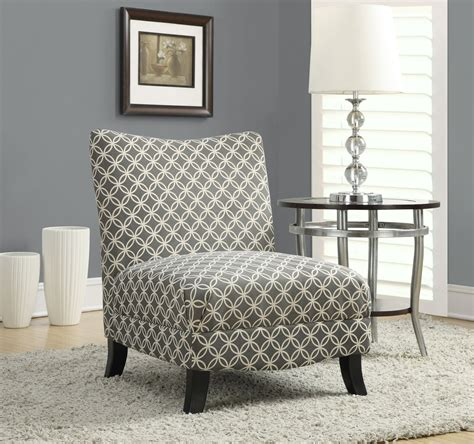 gray circular fabric accent chair from monarch 8113