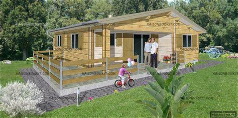 prix pour construire un chalet chalet bois en kit 60 m2 3 chambres