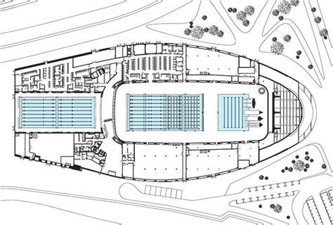 housing blueprints floor plans aquatics centre by zaha hadid architects