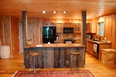 Rustic Kitchens : Custom Made Reclaimed Wood Rustic Kitchen Cabinets By