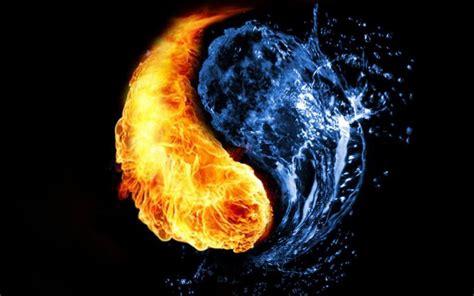 yin    fire  water hd wallpaper