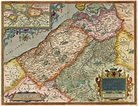 Old, antique map of the county of Flanders (Vlaanderen) by ...