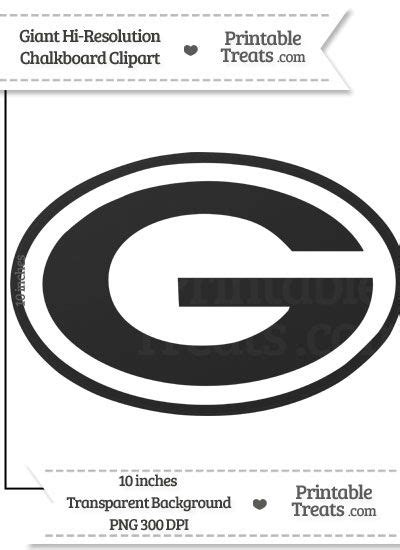 clean chalkboard giant green bay packers logo clipart