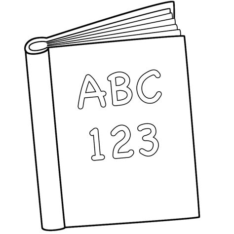 8 Best Images Of Abc Book Cover Coloring Page  Free Printable In Style  Kids Drawing And