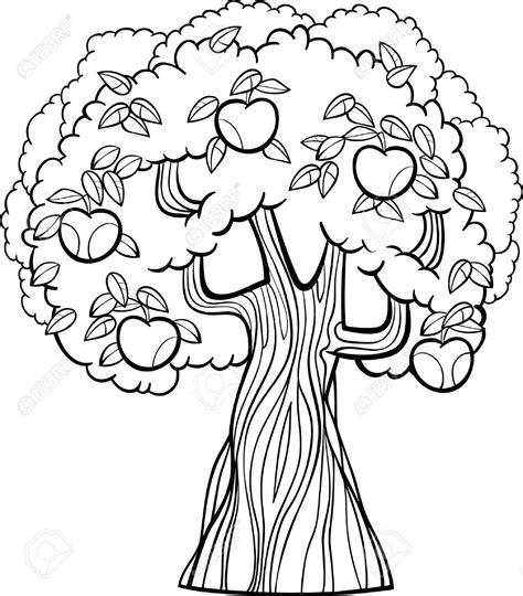 Kleurplaten Appelboom by раскраска сад для детей распечатать бесплатно