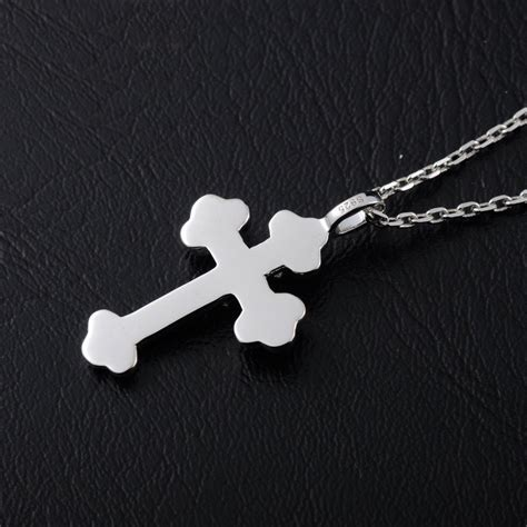 blue sweet couple necklaces gold silver double cross